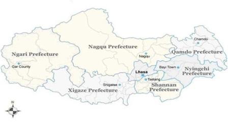 Lhasa China Map.Analysis And Strategy China Tibet